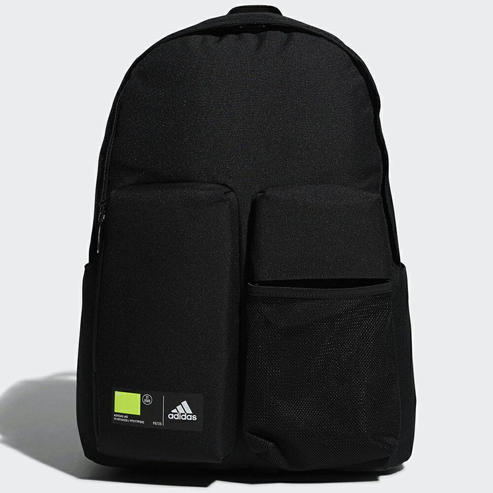 【滿額最高折318】ADIDAS CLASSICS 3D POCKETS 背包 後背包 休閒 水壺側袋 拉鍊前袋 黑【運動世界】GN9875