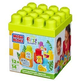 ★衛立兒生活館★MEGA BLOKS 幼兒積木 動物積木盒-14pcs(MB81206)