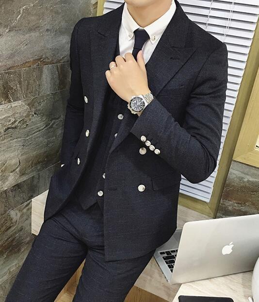 FINDSENSE品牌 韓國男 舒適面料 暗紋 小西裝 修身西裝 西裝外套 單件外套