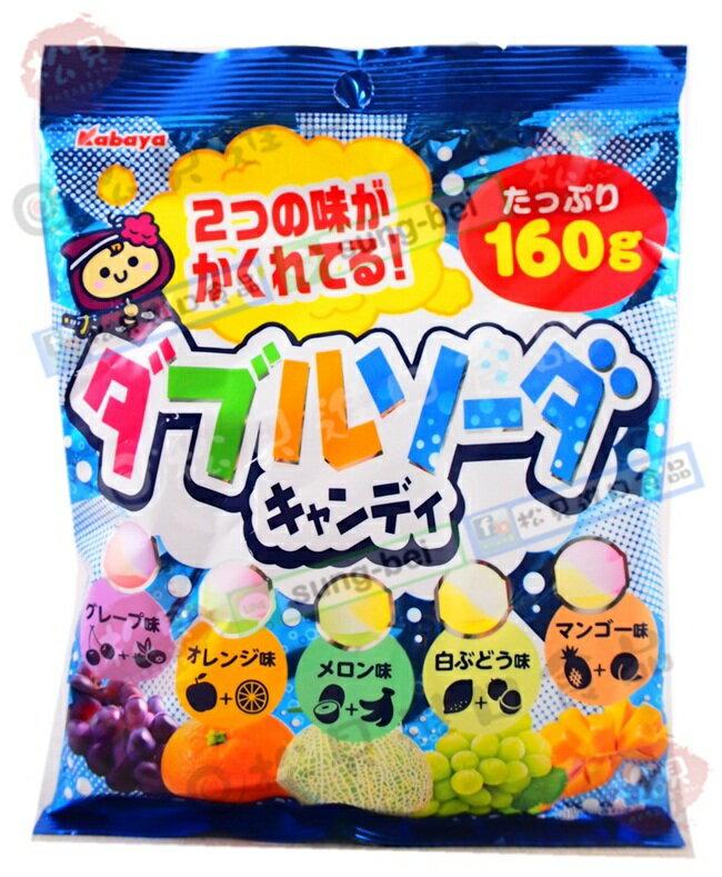 《松貝》卡巴水果蘇打汽水糖160g【4901550226321】ca14