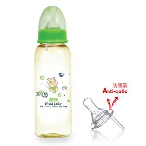 【蜜妮寶貝嬰童用品館】PES防脹氣標準奶瓶 (容量: 240ml/8oz 顏色: 橘/綠)