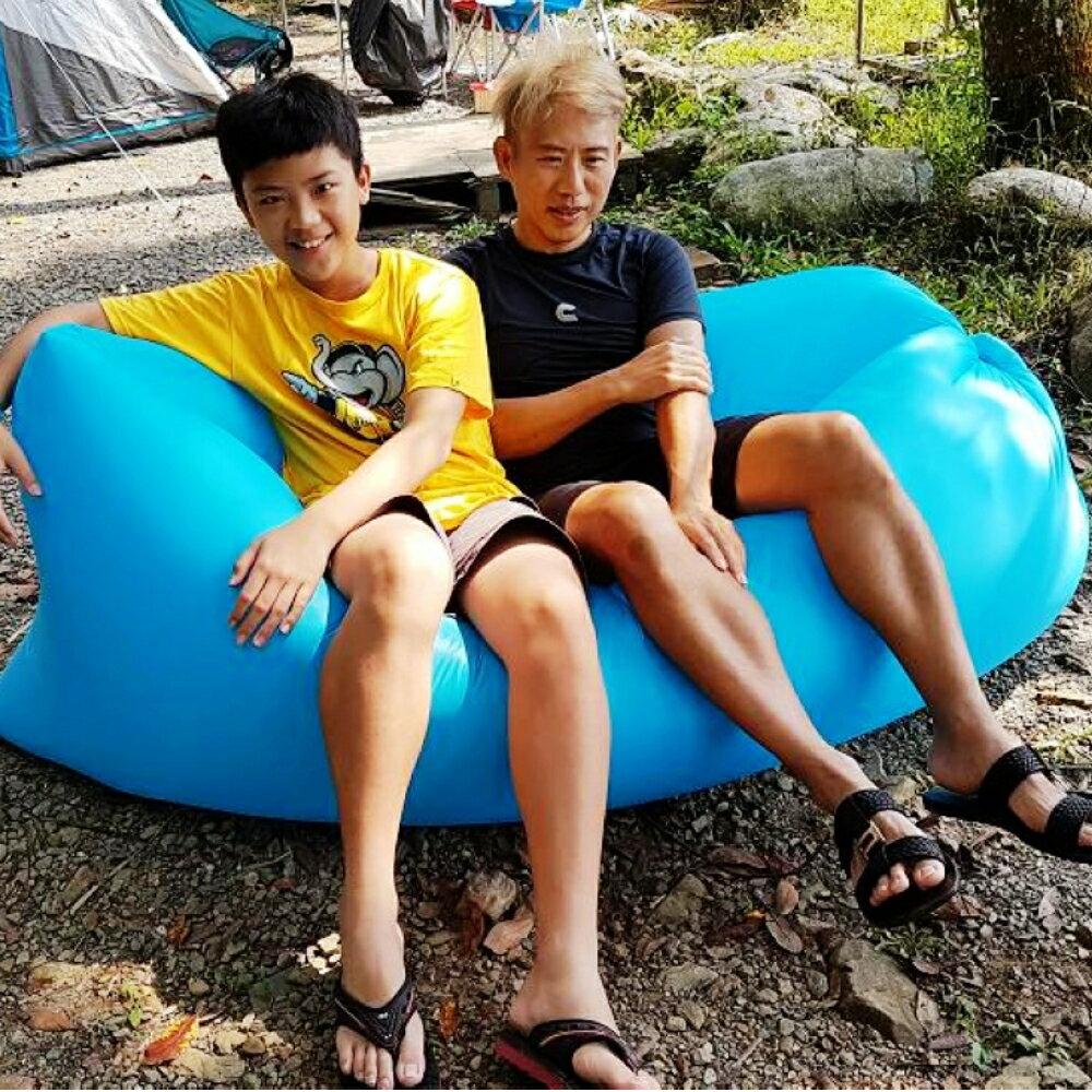 美麗大街 戶外快速充氣床睡袋懶人午睡床超輕便攜床沙灘床野餐床椅充氣沙發【110042374】