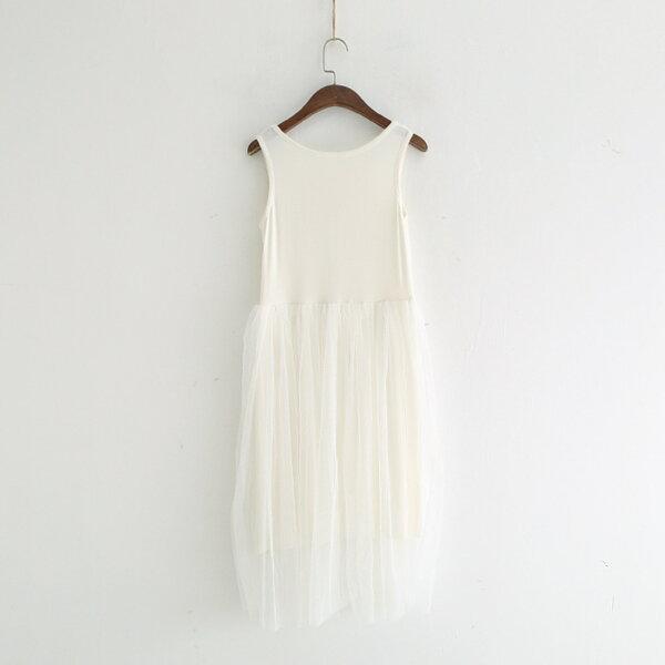 網紗公主裙A字無袖背心裙連身裙洋裝樂天時尚館。預購。[全店免運]