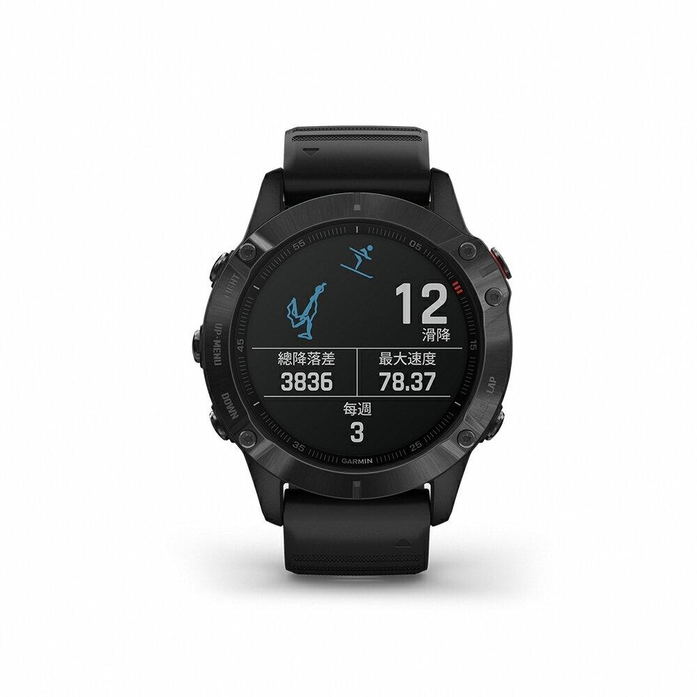 [多重神劵現折10%再抵禮金] Garmin Fenix 6 進階複合式運動GPS腕錶/登山戶外錶/行動支付錶 內建血氧感測功能