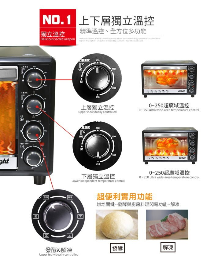 ★免運★ENLight 33L旋風烤箱 PB-332 (附烤盤*2 烤網*1 烤網夾*1) 5