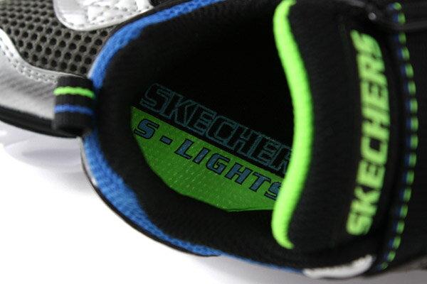 SKECHERS  LIGHTS 運動鞋 電燈鞋 童鞋 灰色 90512LSLBL no982 6