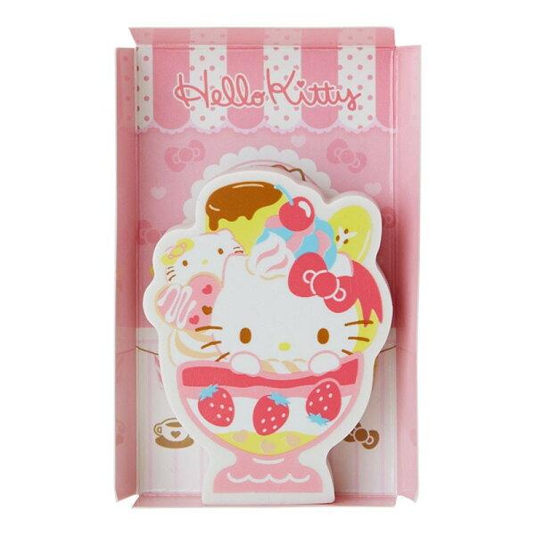 【真愛日本】18072100027造型橡皮擦-KT聖代凱蒂貓kitty三麗鷗橡皮擦聖代文具修正相關