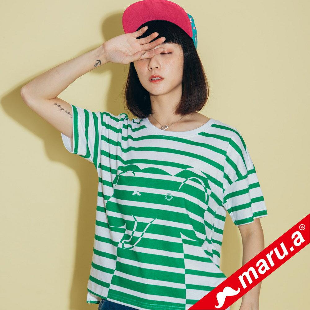 【maru.a】親子裝童趣感小飛象條紋T-Shirt(2色)8321228  /  8351221 0