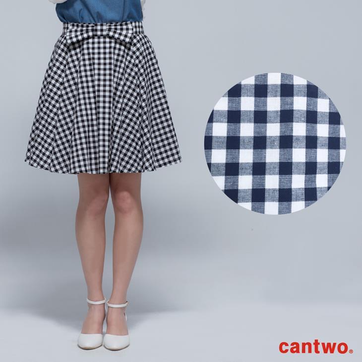 cantwo傘狀雙色格紋短裙(共二色) 6