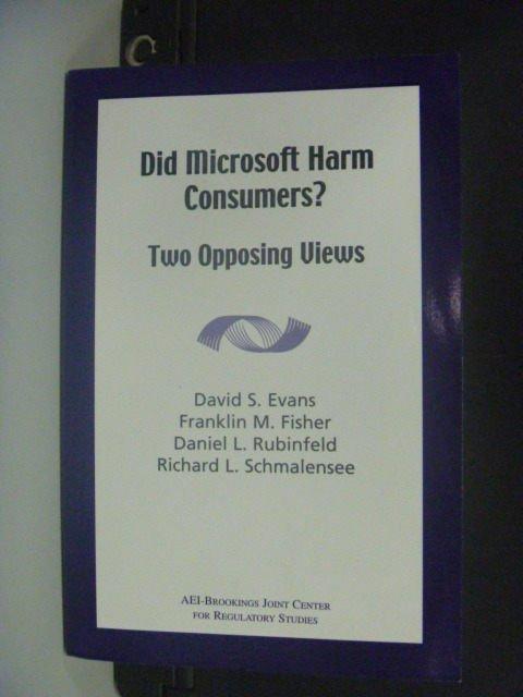 【書寶二手書T3/網路_MEP】Did Microsoft Harm Consumers