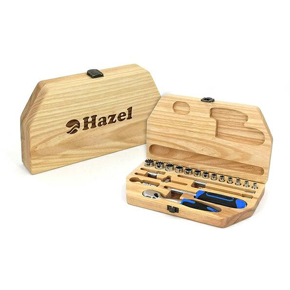 Hazel - 手動工具原木工具盒套組【A系列】- 255*145*40 0