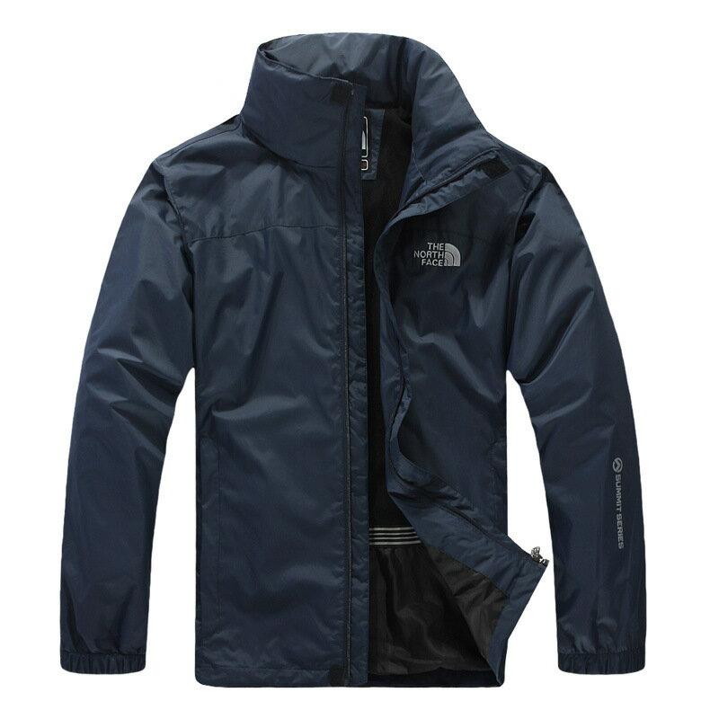北臉 THE NORTH FACE 立領 保暖外套 防寒防風水 機能衣系列 風衣 騎士外套 深藍