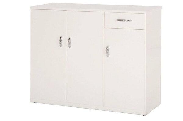 【石川家居】863-04白色鞋櫃(CT-314)#訂製預購款式#環保塑鋼P無毒防霉易清潔