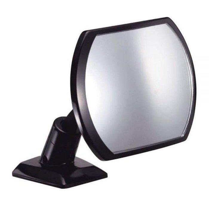 權世界~汽車用品  NAPOLEX 黏貼式車內後視用可調超角度廣角安全輔助曲面凸鏡 BW~