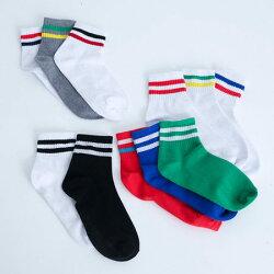 學院風繽紛短版足球襪 青春無敵 學生襪 短襪 襪子 造型襪 流行襪 實穿【N200187】
