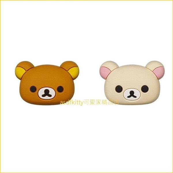 asdfkitty可愛家☆日本san-x拉拉熊+懶妹拉拉熊妹臉型車牌鎖裝飾貼-機車-汽車-腳踏車都可用-日本正版商品
