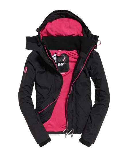 正品代購7-14天~2017新款 極度乾燥Superdry 女款 三拉鍊 內裏桃紅色 防風連帽風衣外套✨