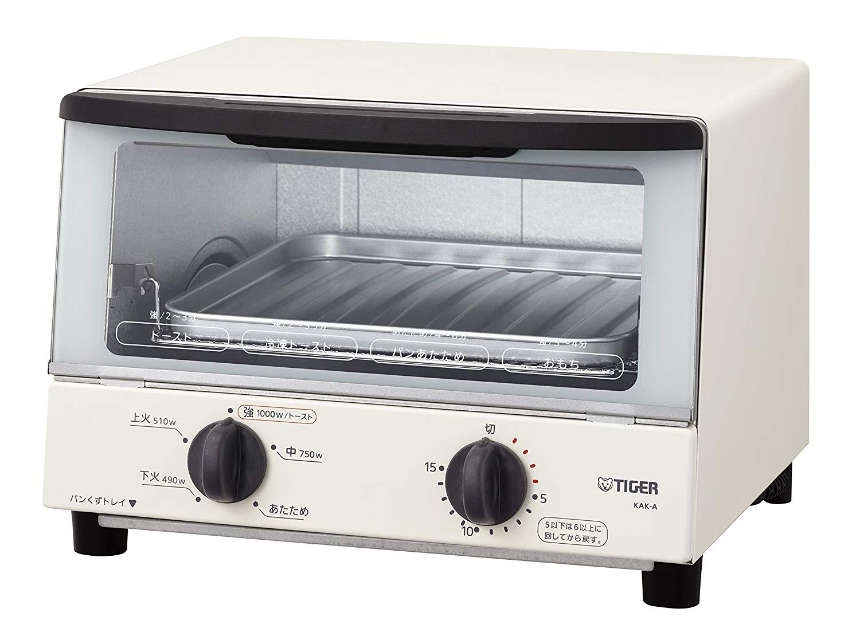 日本公司貨TIGER 虎牌烤箱KAK-A100 W 小烤箱烤麵包機烤土司5段火力遠紅外線白色日本必買- Metis | Rakuten樂天市場