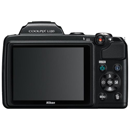 "Nikon Coolpix L120 14.1 Megapixel Compact Digital Camera  with 21x Optical Zoom, 3"" LCD, HDMI, Black 1"