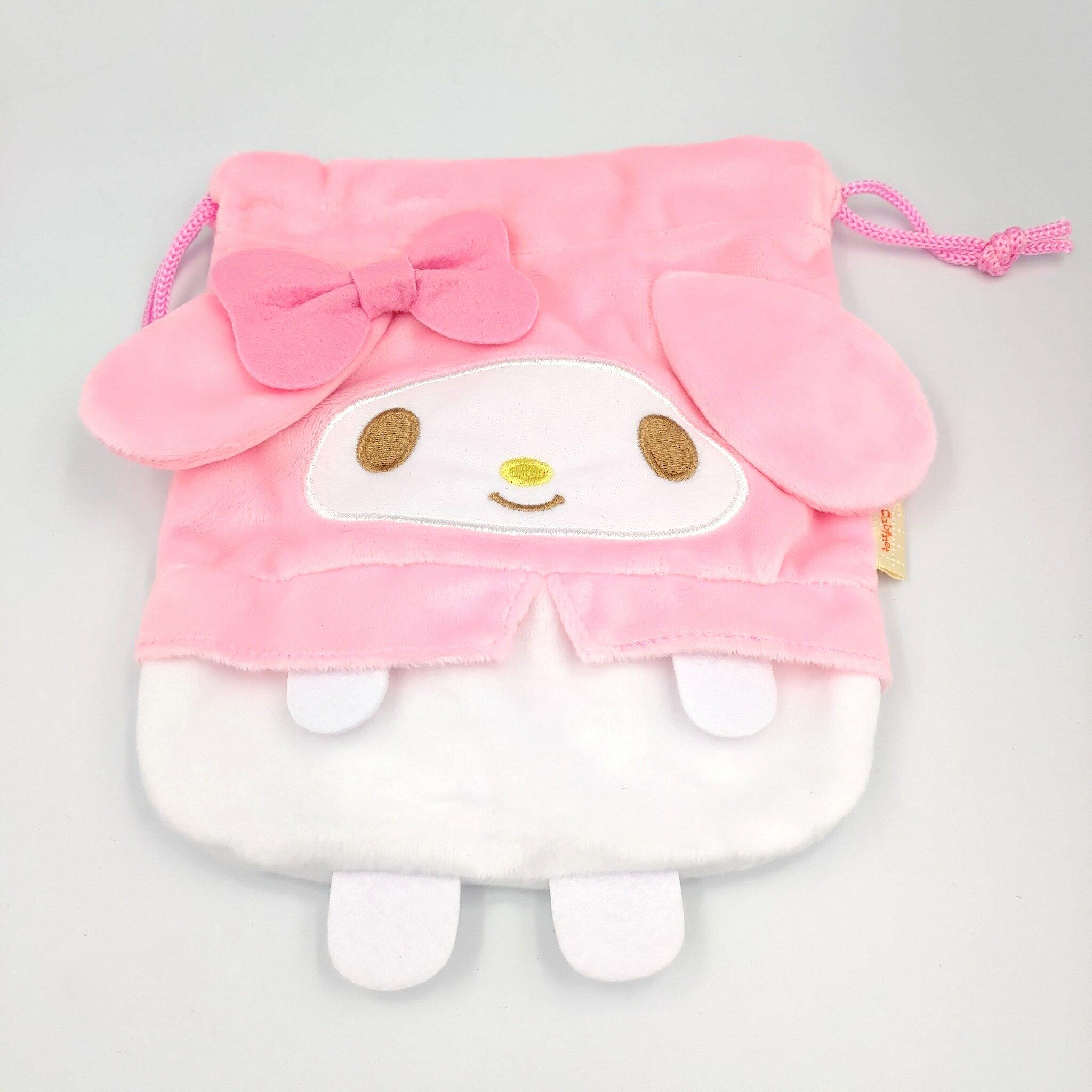 【積文館】造型束口袋 日本進口 美樂蒂 Melody 收納袋(19*17cm)