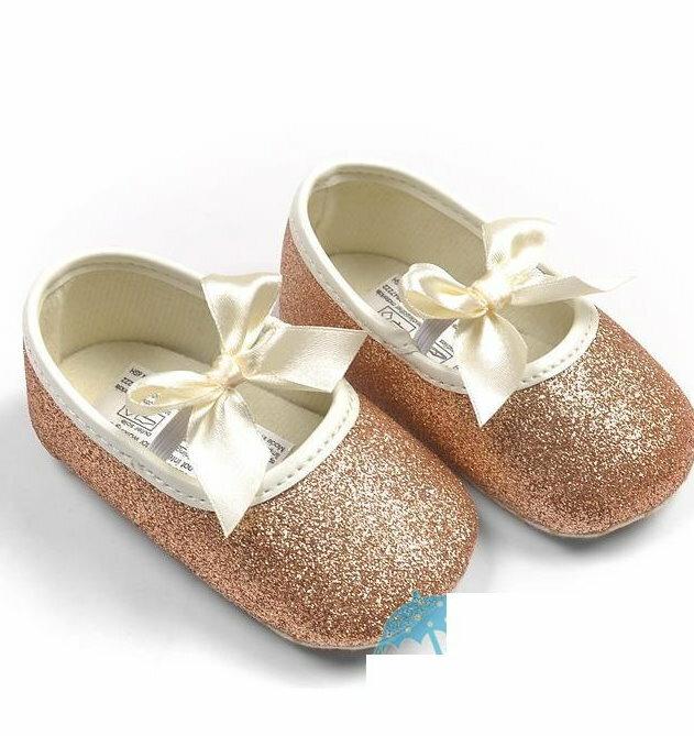 【經典公主鞋】女寶寶學步鞋軟底嬰兒花童鞋亮粉款-金色