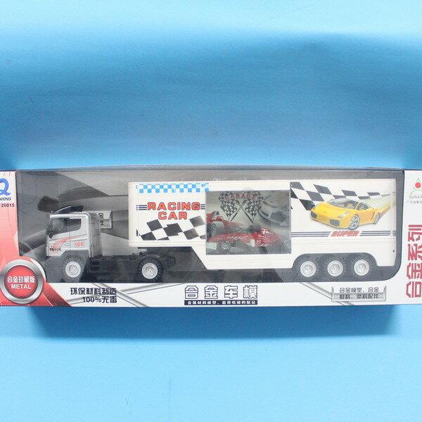 回力合金貨櫃車拖車+F1合金車賽車 QX-120015(盒裝)/一台入{促300}