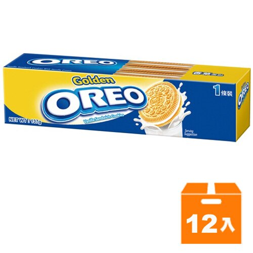 OREO 金奇奧利奧 香草夾心餅乾 137g (12入)/箱