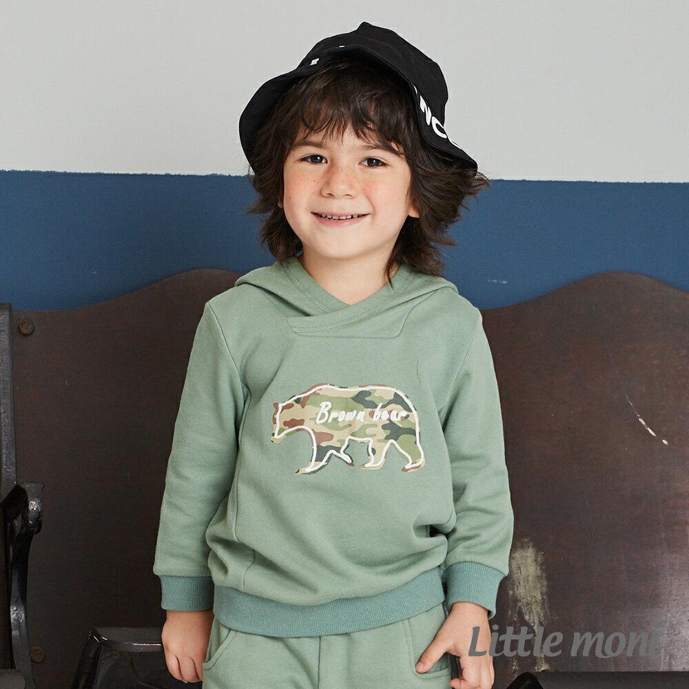 Little moni 迷彩熊連帽上衣-深綠(好窩生活節) 1