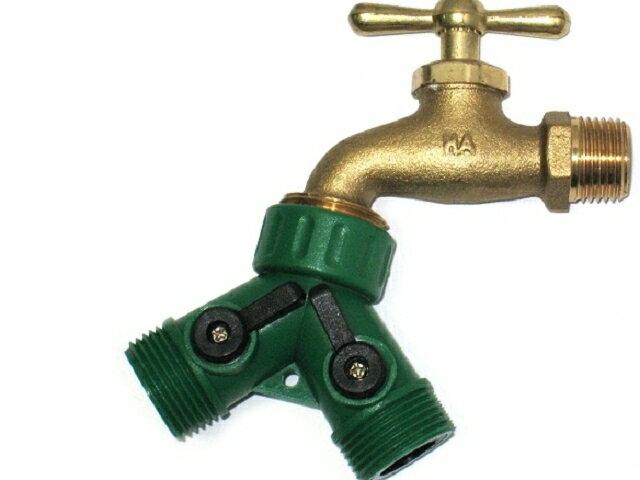 美規銅製四分水龍頭轉接美規六分外牙雙通開關球閥