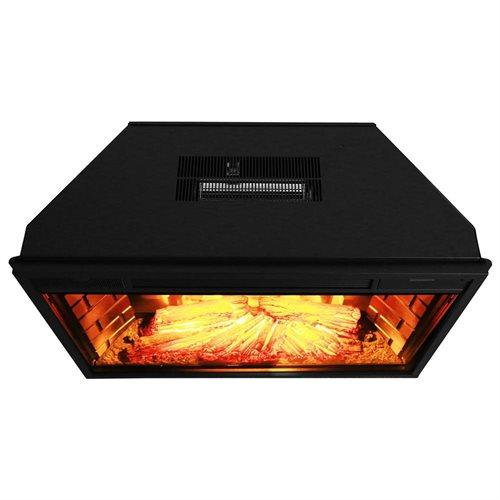 "AKDY 28"" AK-EF05-28R Black Electric Firebox Fireplace Heater Insert W/Remote 1"