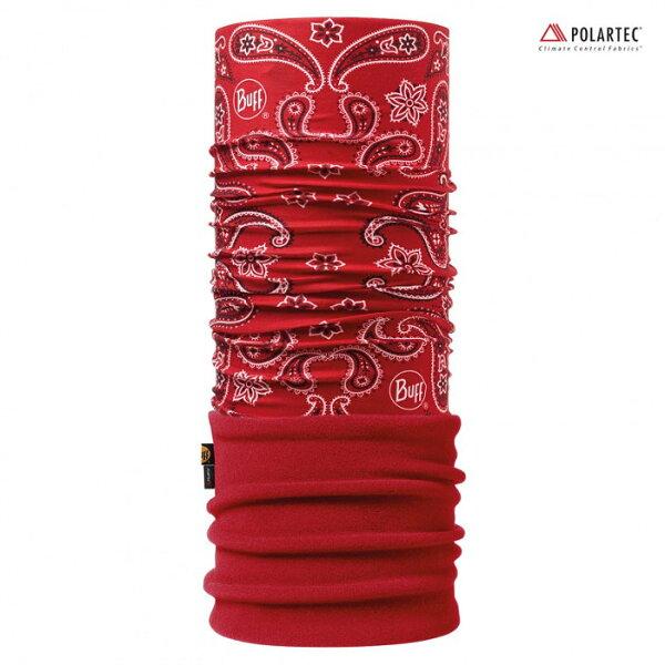 【【蘋果戶外】】BF110969BUFF魔術頭巾變形紅蟲變形蟲Polartec二段式保暖纖維保暖圍巾領巾口罩