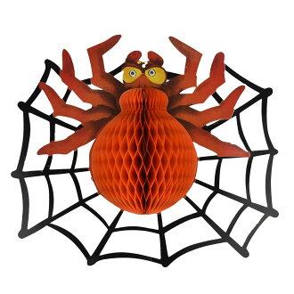X射線【W405280】萬聖大蜘蛛網紙掛飾,萬聖節/櫥窗/佈置/裝飾/擺飾/會場佈置/蜘蛛/壁貼/布旗/店面裝飾/道具/吊飾