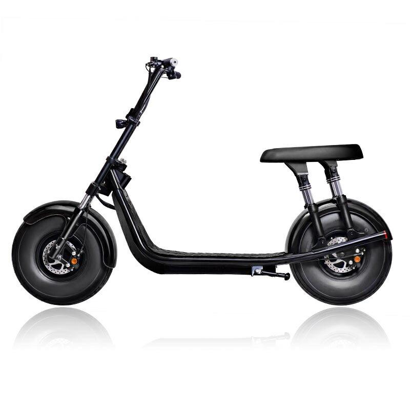 「樂天優選」啟牛X哈雷電瓶車成人新款雙人大輪胎電動摩托車跑車自行車