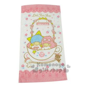 〔小禮堂〕雙子星 毛巾《L.白粉.玫瑰花圈.咖啡杯》100%棉.33*76(cm)