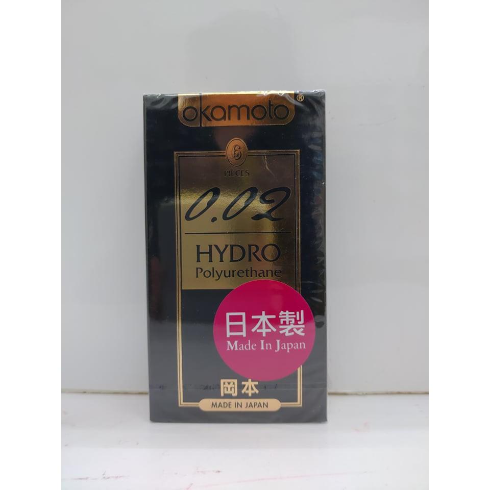 【憨吉小舖】【現貨隱密出貨】okamoto岡本002保險套 Hydro水感勁薄 6片裝/衛生套  保險套、避孕套