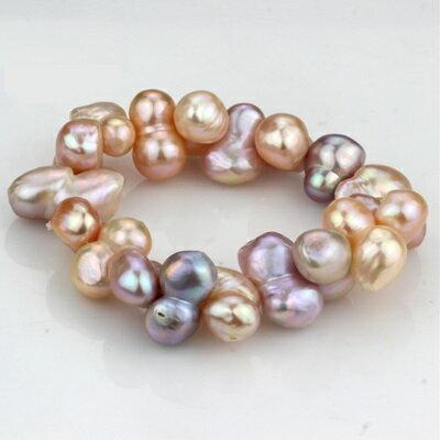 珍珠手鍊手環-多彩10-12mm葫蘆型不規則情人節母親節禮物女飾品73lv22【獨家進口】【米蘭精品】