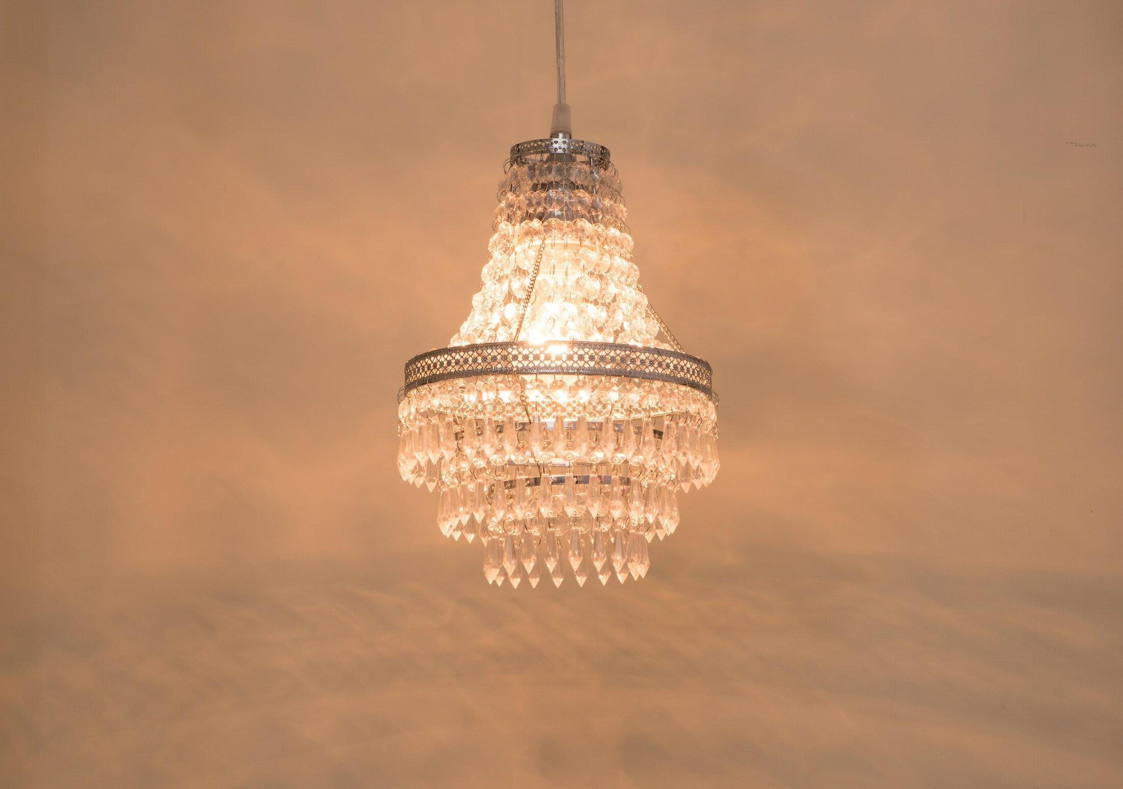 鍍鉻色華麗透明壓克力珠吊燈-BNL00022 4
