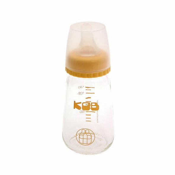 KOB 玻璃奶瓶120ml~黃色