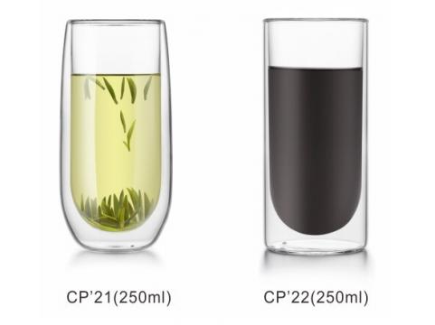 Linox CP-21 CP-22 雙層玻璃杯250ml 1入組 雙層杯 耐熱玻璃杯 雙層隔熱杯 非BODUM雙層杯