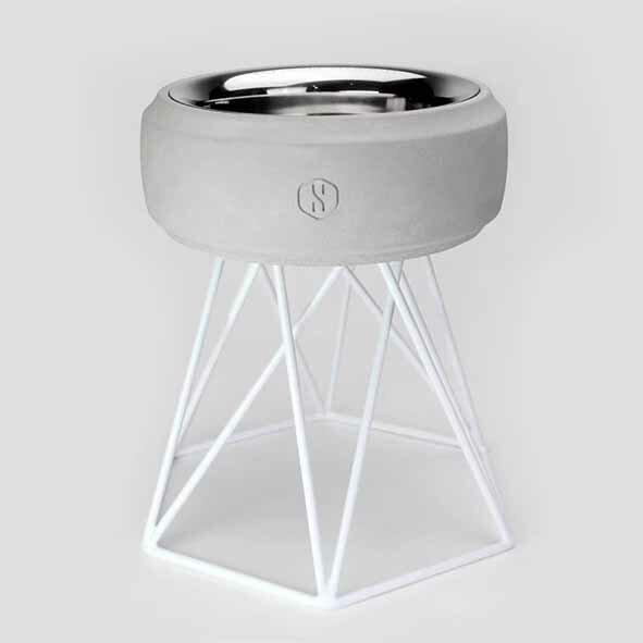 SPUTNIK 寵物碗架 Cozy Cement Bowl - 白水泥+白架(M2) Pet's Talk 0