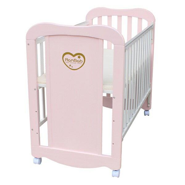 Mam Bab夢貝比 - 彩虹貝比嬰兒床 台規中床 (粉藍/粉紅/純白/原木/個性黃) 4