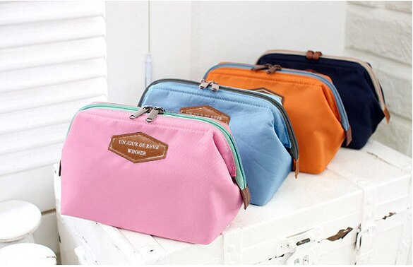 Lady Travel Makeup bag Cosmetic pouch Clutch Handbag 1
