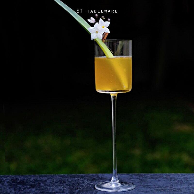 【缺貨】直角筒身 150ml 高腳調酒杯|6入.外星人餐具 雞尾酒杯 香檳杯 甜酒杯 高腳杯 果酒杯 調酒杯 強化玻璃杯