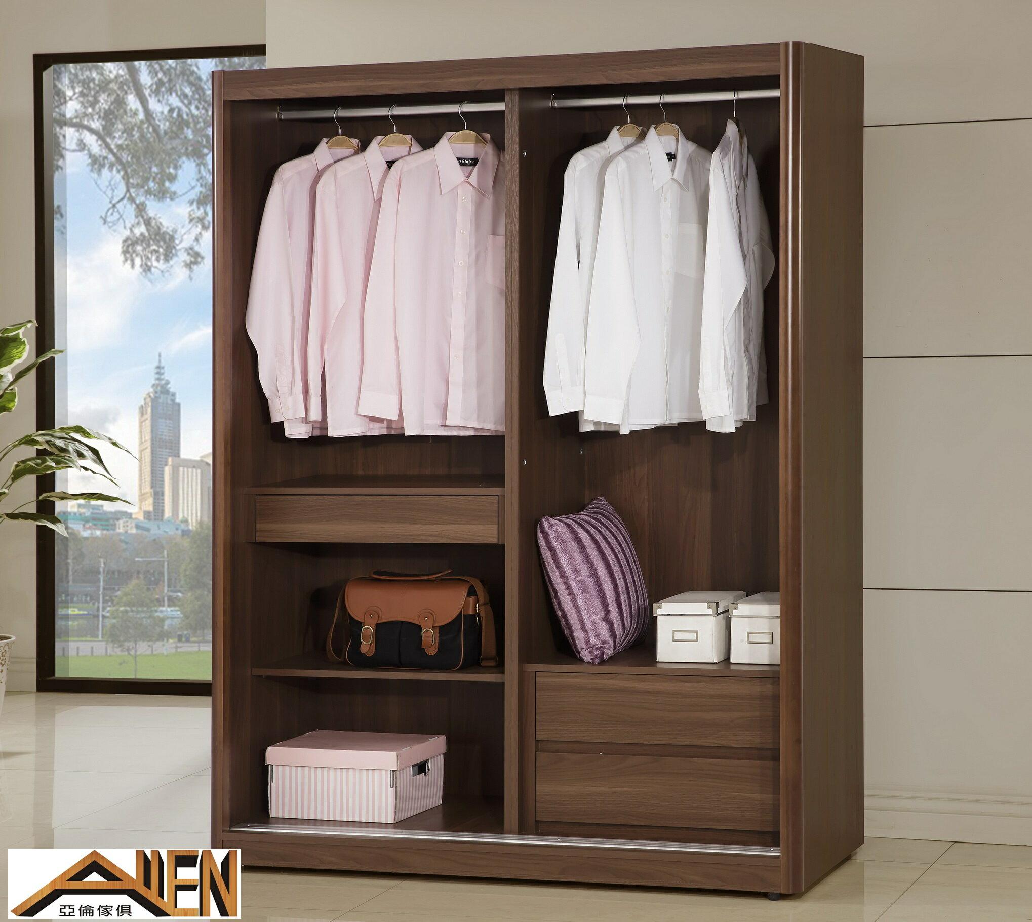亞倫傢俱*阿勞德安全R角5*7尺拉門衣櫥 2