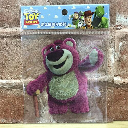 【真愛日本】17072400007 防水貼紙L-熊抱哥全身寫真 迪士尼 玩具總動員 草莓熊 行李箱裝飾貼紙