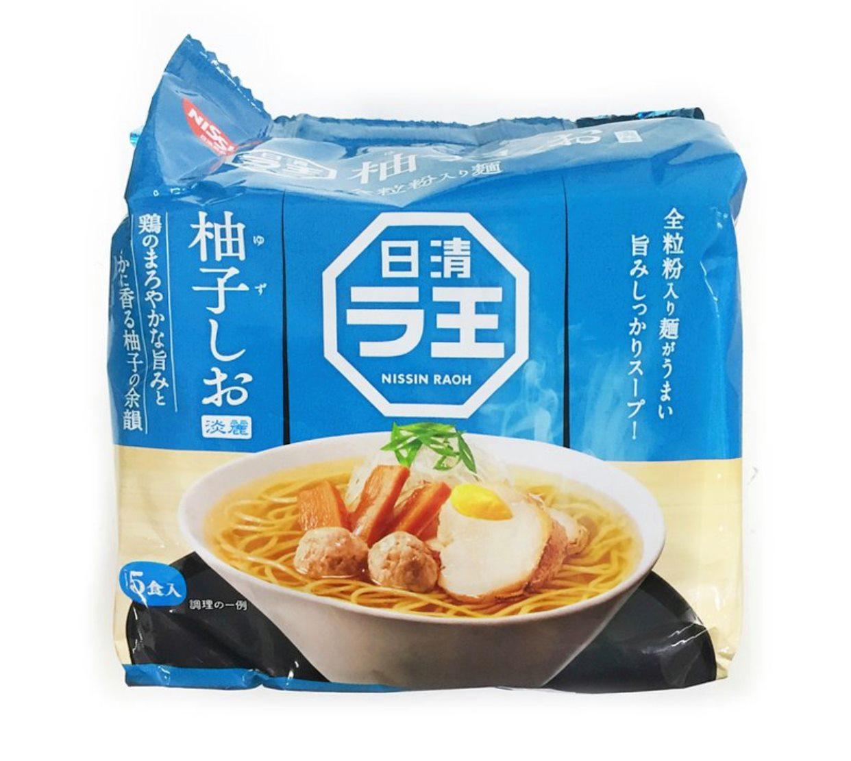 日清NISSIN 拉王柚子鹽味拉麵 5袋入