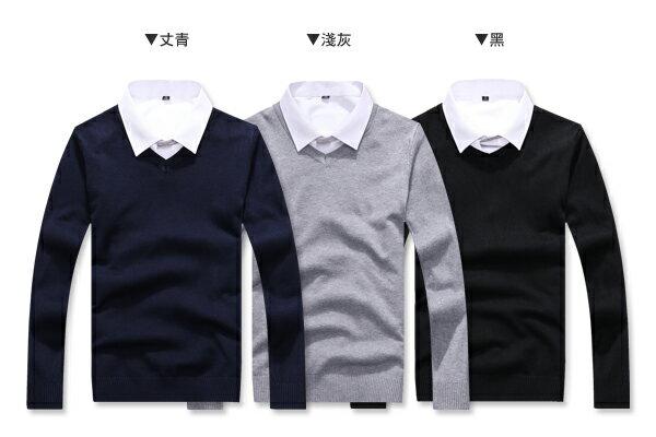 ☆BOY-2☆【PPK86036】情侶上衣 V領素面針織毛衣 1