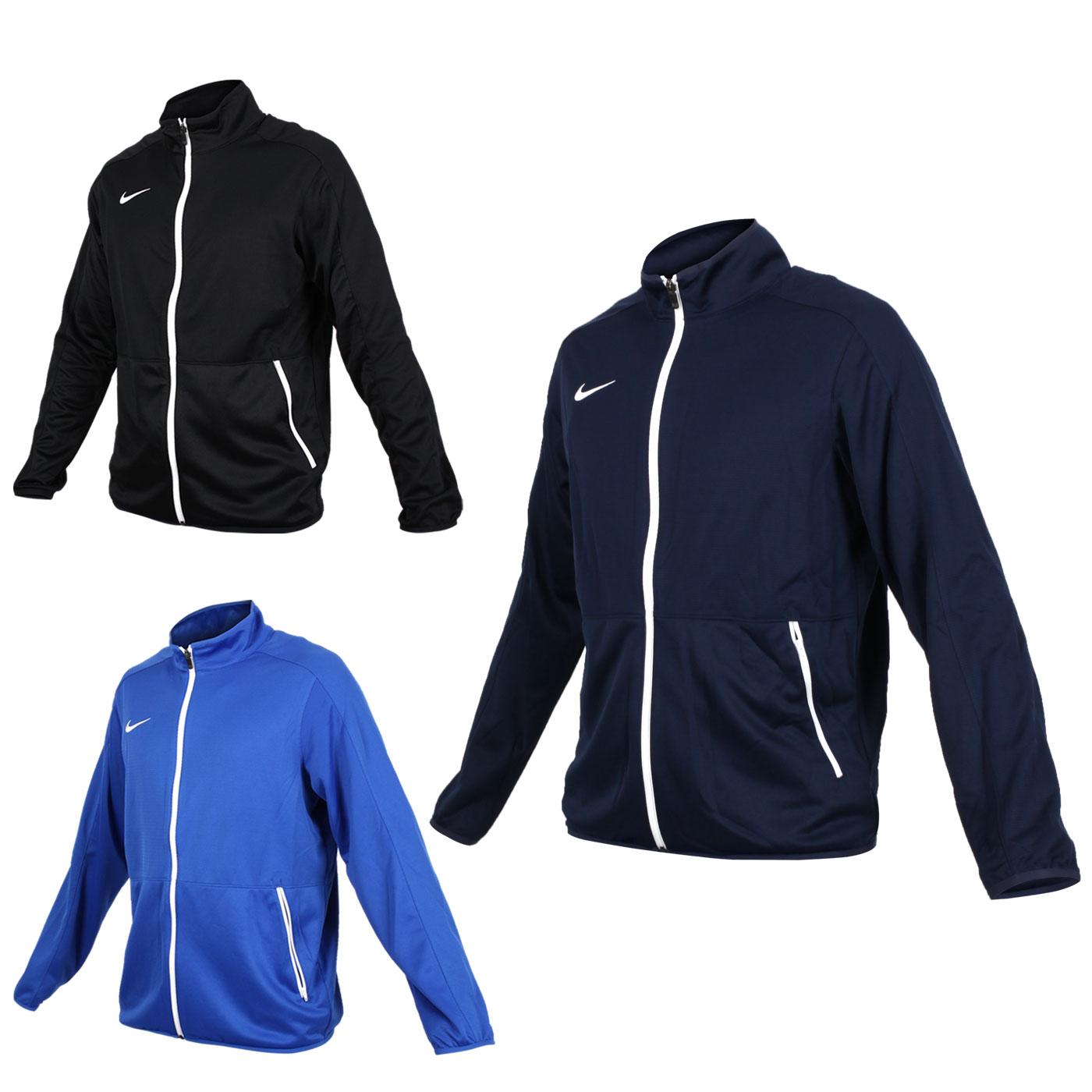 NIKE 男針織籃球夾克(立領外套 慢跑 路跑【03391201】≡排汗專家≡