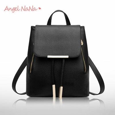 後背包。AngelNaNa 韓版 簡約 十字紋 百搭 女雙肩包【B155】