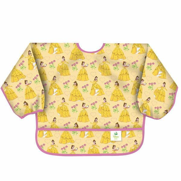 【淘氣寶寶】最新【美國Bumkins】小童(6-24月)長袖防水圍兜-迪士尼公主款 BKS-995340【保證公司貨】